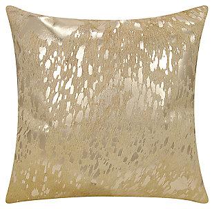 Modern Metallic Splash Couture Pillow, , large