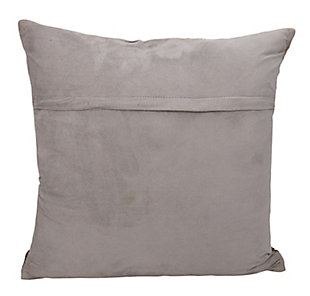 Modern Metallic Splash Couture Pillow, Silver/Ash Gray, large