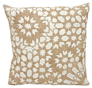 Modern Gleaming Stars Couture Luster Pillow, , large
