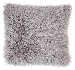 Modern Faux Tibetan Lamb Fur Pillow, , large