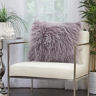 Modern Faux Tibetan Lamb Fur Pillow, , rollover