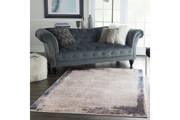Modern Remen Poly Faux Fur Pillow, , large