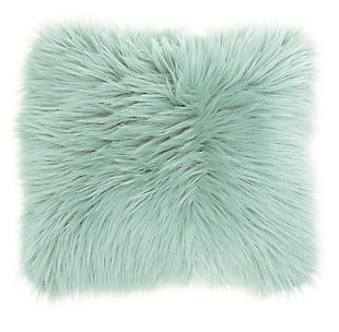 Modern Remen Poly Faux Fur Pillow, , large