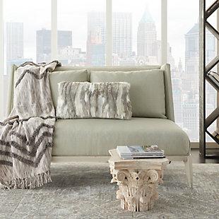 Modern Faux Angora Rabbit Fur Pillow, , rollover