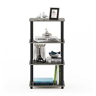 Furinno Turn-N-Tube No Tool 4-Tier Storage Shelf, , rollover