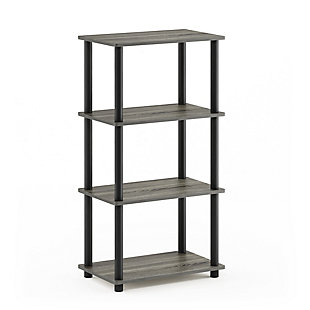 Furinno Turn-N-Tube No Tool 4-Tier Storage Shelf, , large
