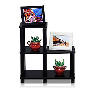 Furinno Turn-N-Tube Accent Decorative Shelf, Espresso/Black, rollover