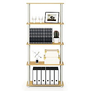 Furinno Turn-N-Tube 5-Tier Multipurpose Shelf Display Rack, , rollover