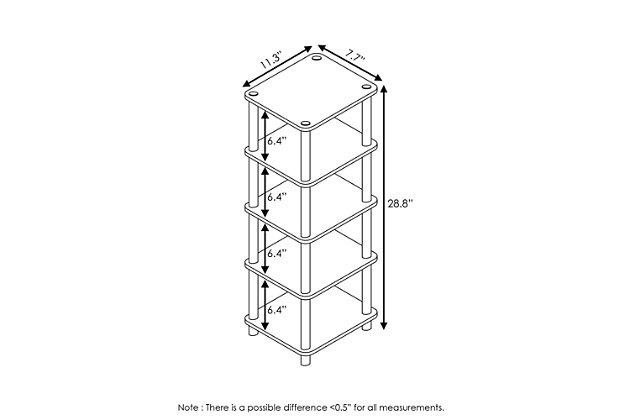 Furinno Turn-N-Tube 4-Bins System Rack, , large