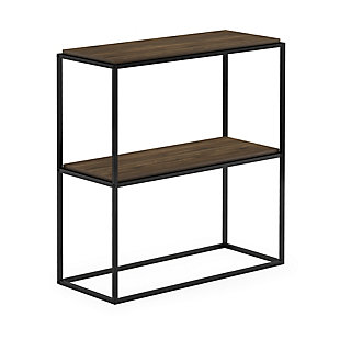 Furinno Moretti Modern Lifestyle Wide Stackable Shelf, Columbia Walnut, large