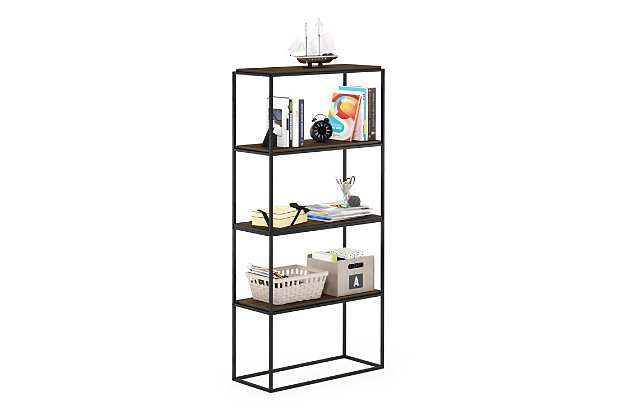 Furinno Moretti Modern Lifestyle Wide Stackable Shelf, , large