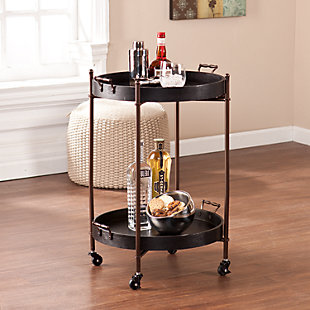 Alfred Two-Tier Round Butler Table, , rollover