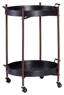 Tier Round Butler Table Black Two Product Photo 3536