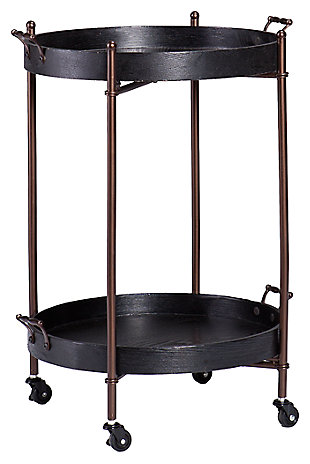 Alfred Two-Tier Round Butler Table, , large