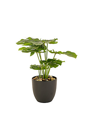 Artificial Monstera Plant in a Plastic Pot Small, , large