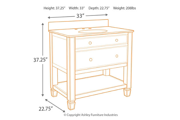Becky Accent Cabinet and Sink, , large