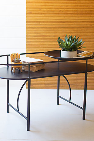 Kalalou Black Metal Accent Table, , rollover