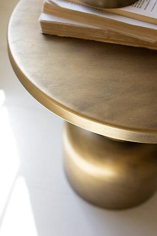 Kalalou Antique Brass Metal Accent Table, , large