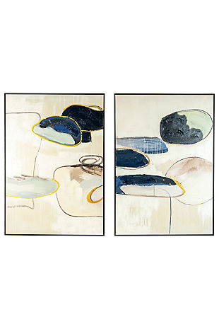 Kalalou Oil Painting - Set of Two Abstract, , large