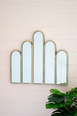 Kalalou Metal Mirror with Five Arches, , rollover