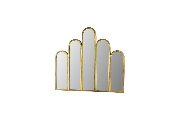 Kalalou Metal Mirror with Five Arches, , large