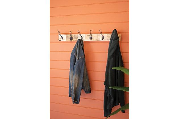 Kalalou Zigzag Recycled Wood Coat Rack, , large