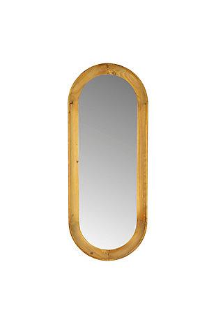 Kalalou Oval Wood Framed Mirror, , large