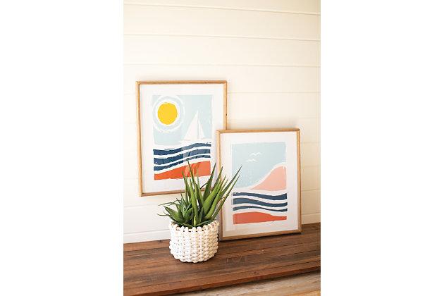 Kalalou Set of Two Seaside Prints Under Glass, , large