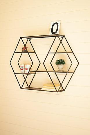Kalalou Metal Wall Shelf - Diamonds, , rollover