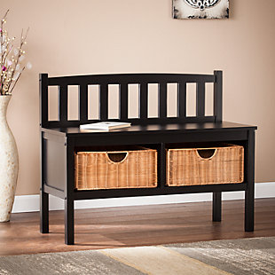bedroom storage furniture.  large SEI Bench with Storage Baskets rollover Bedroom Ashley Furniture HomeStore