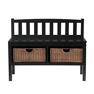 Bench with Storage Baskets, , large