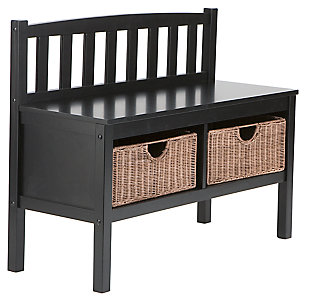 SEI Bench with Storage Baskets. Bedroom Benches   Ashley Furniture HomeStore