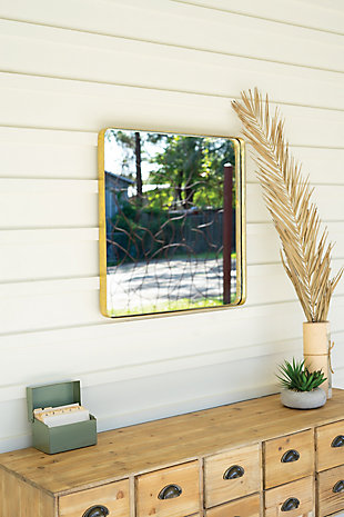 Kalalou Square Mirror with Metal Frame, , rollover
