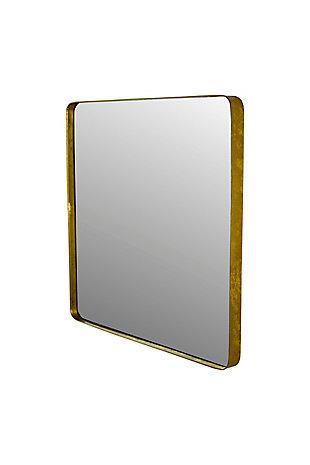 Kalalou Square Mirror with Metal Frame, , large