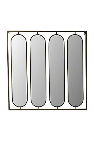 Kalalou Four Oval Mirrors with Square Metal Frame, , large