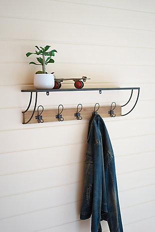 Kalalou Metal and Wood Coat Rack, , rollover