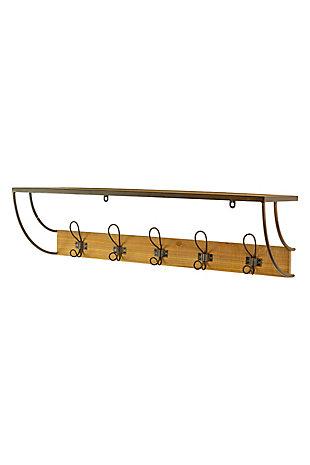 Kalalou Metal and Wood Coat Rack, , large