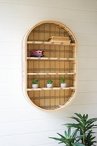 Kalalou Oval Rattan Wall Shelf, , rollover