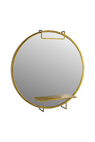 Kalalou Round Mirror with Shelf, , large