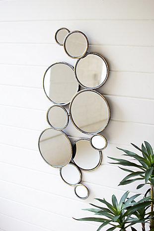 Kalalou Metal Bubbles Mirror, , rollover