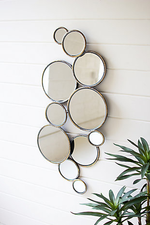 Kalalou Metal Bubbles Mirror, , large