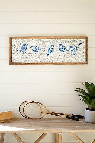 Kalalou Blue Enamel Framed Birds, , rollover