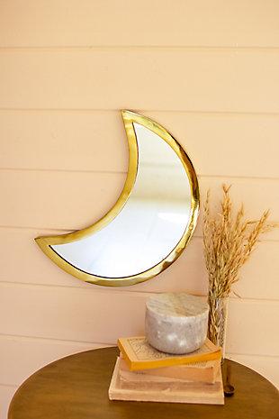 Kalalou Brass Finish Moon Mirror, , rollover