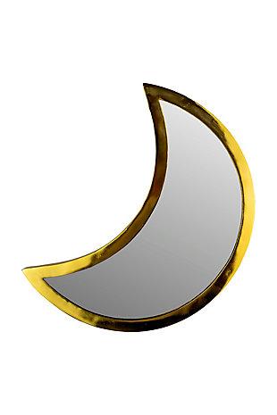 Kalalou Brass Finish Moon Mirror, , large