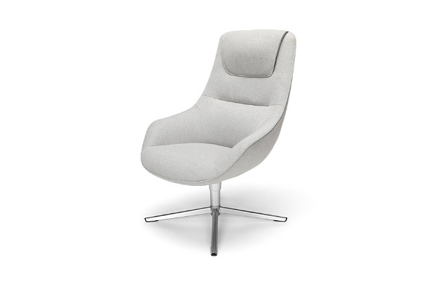 HON Basyx Pique Upholstered Accent Chair, Gray, large