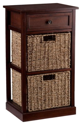 Ashley SEI Kenton 2-Basket Storage Shelf, Brown