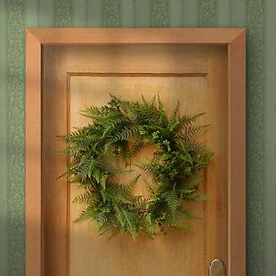 National Tree Company Garden Accents Boston Fern Wreath, , rollover