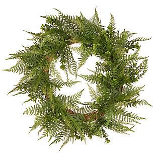 National Tree Company Garden Accents Boston Fern Wreath, , large