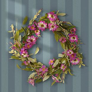 National Tree Company Garden Accents Purple Daisy Wreath, , rollover