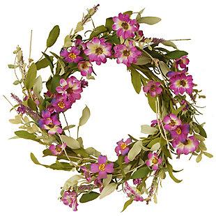 National Tree Company Garden Accents Purple Daisy Wreath, , large